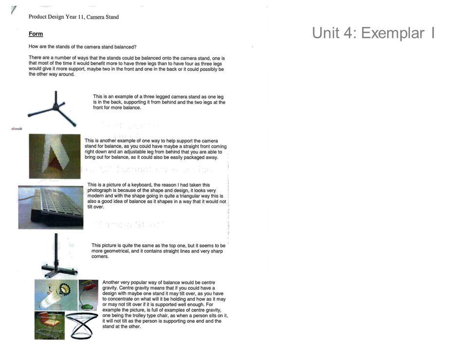 Unit 4: Exemplar I