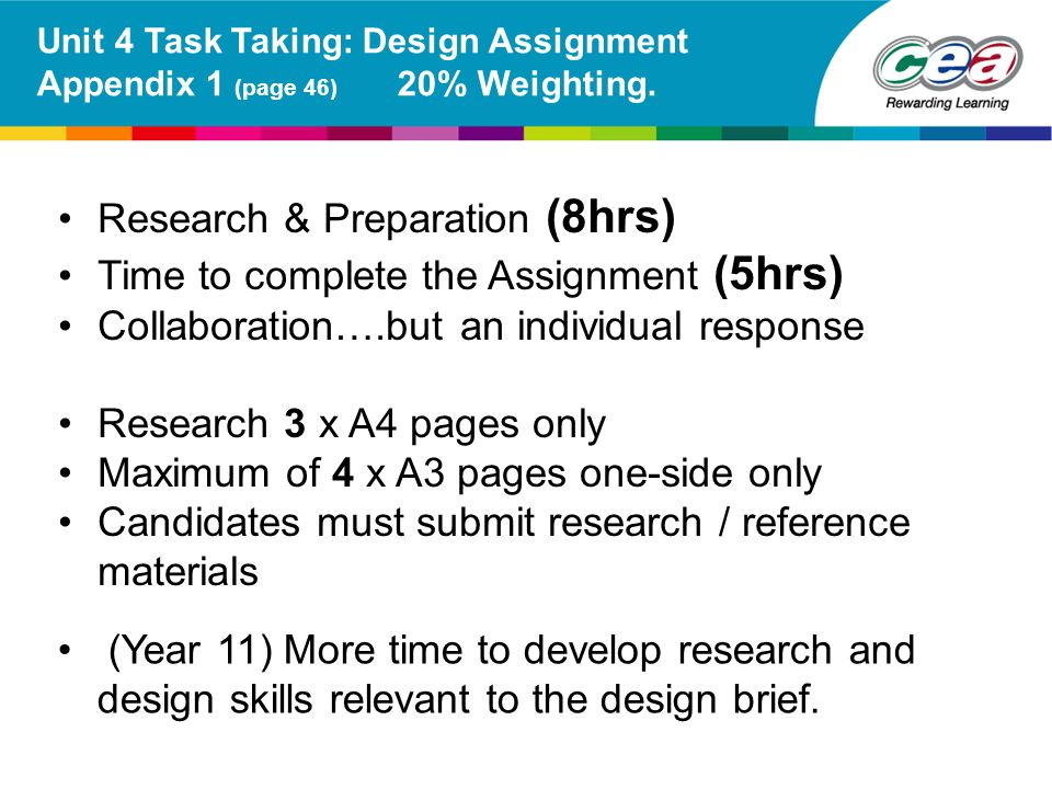 Research & Preparation (8hrs) Time to complete the Assignment (5hrs)