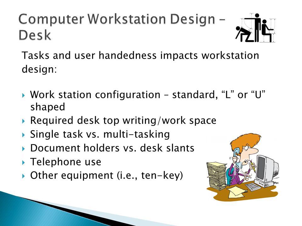 Computer Workstation Design – Desk