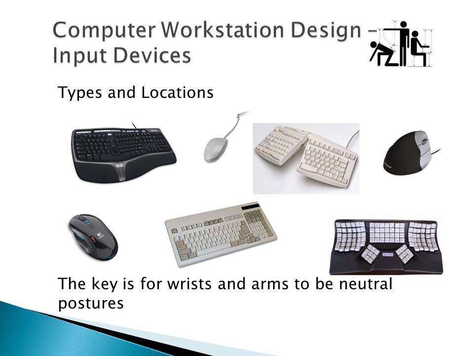 Computer Workstation Design – Input Devices