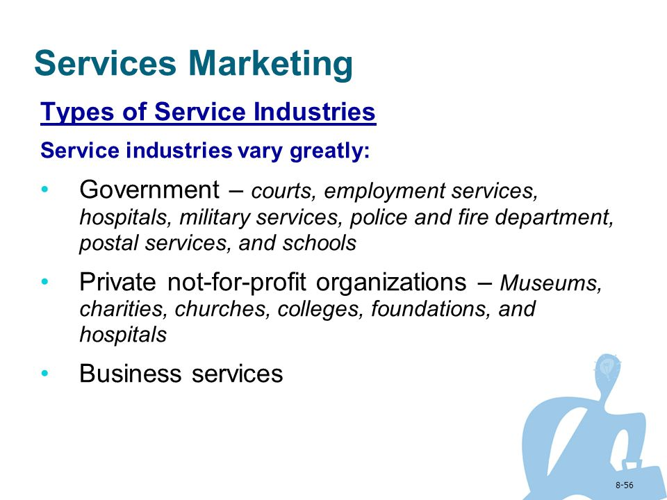Services Marketing Types of Service Industries