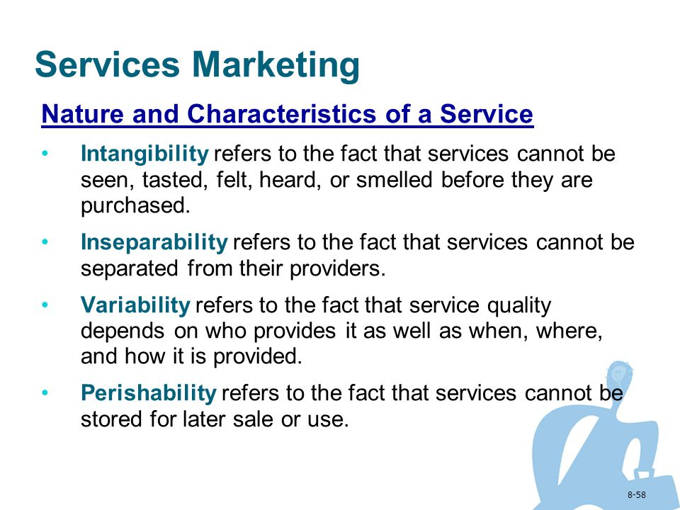 Services Marketing Nature and Characteristics of a Service