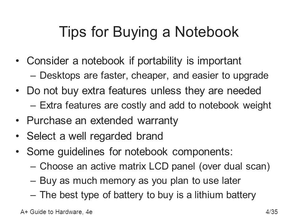 Tips for Buying a Notebook