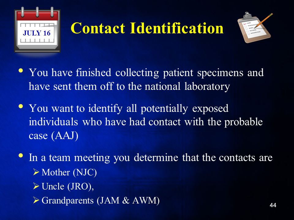 Contact Identification