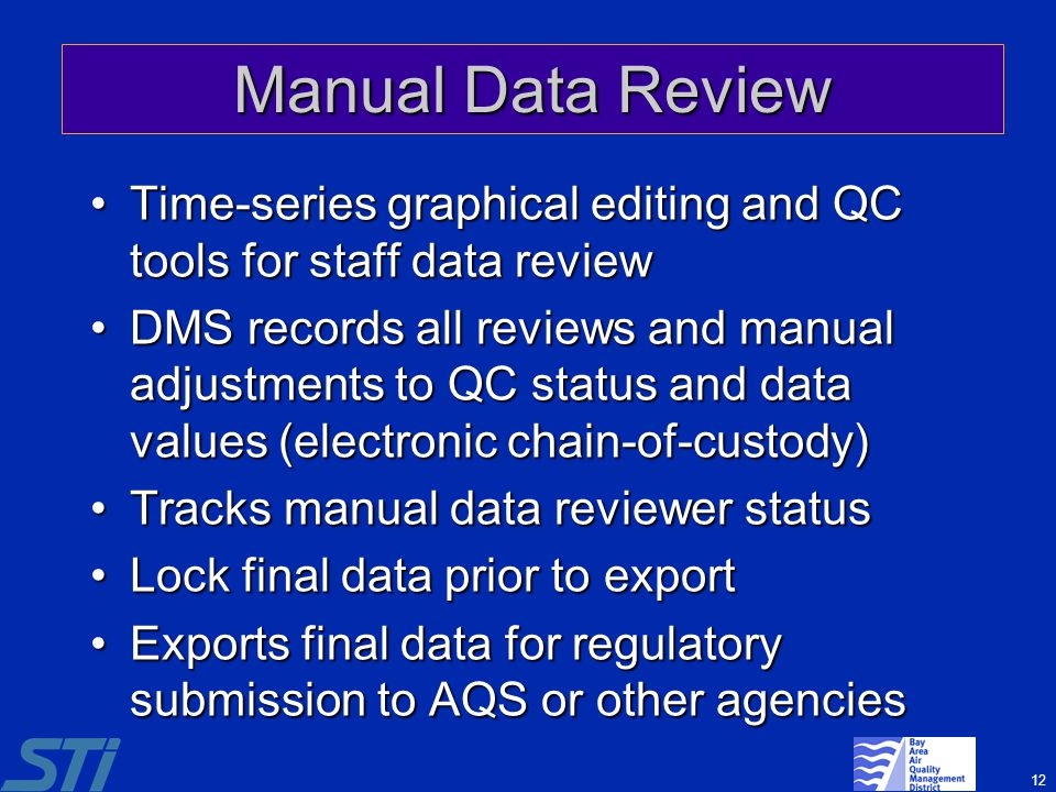 Manual Data Review Time-series graphical editing and QC tools for staff data review.