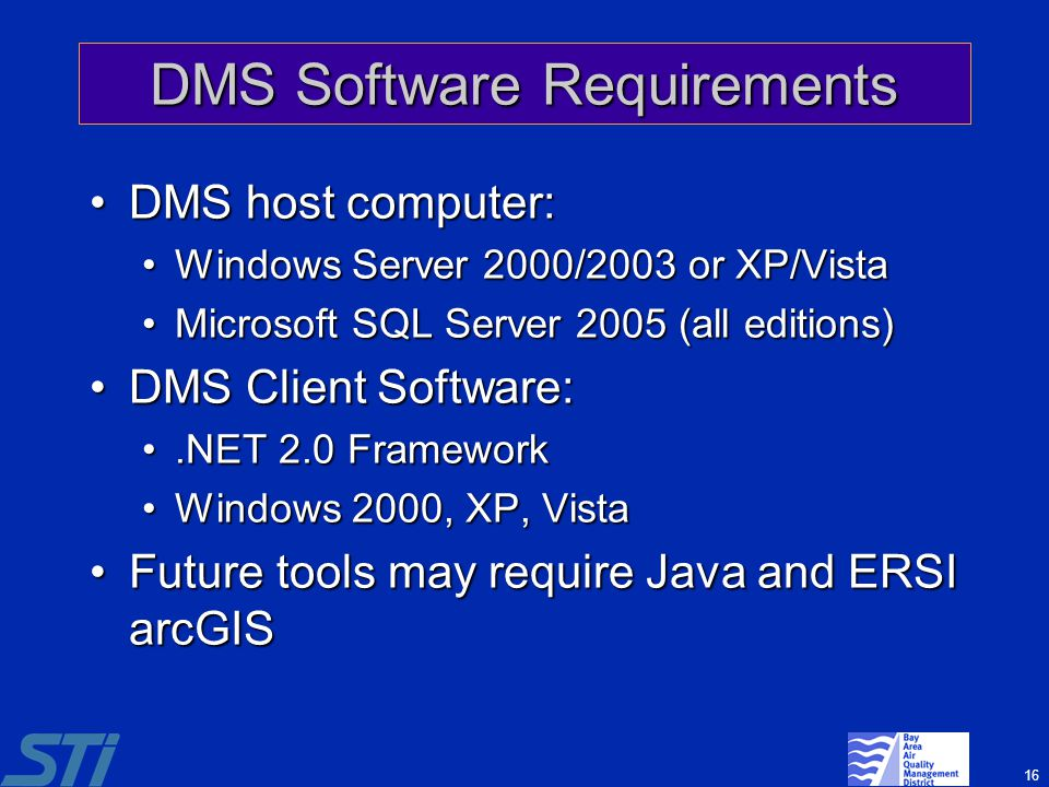 DMS Software Requirements