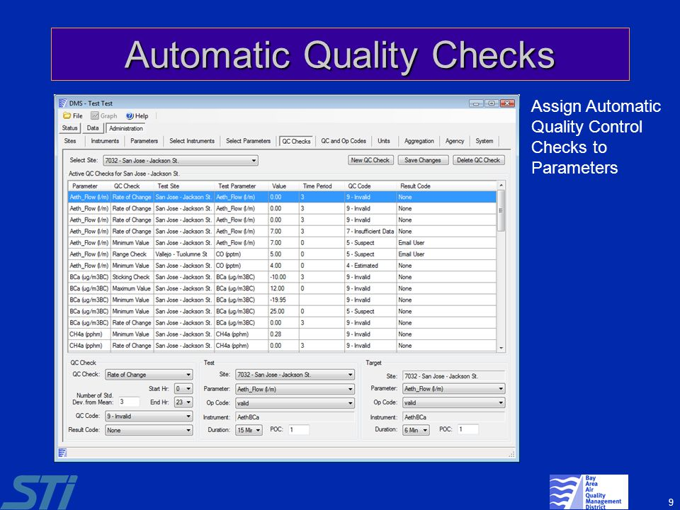 Automatic Quality Checks