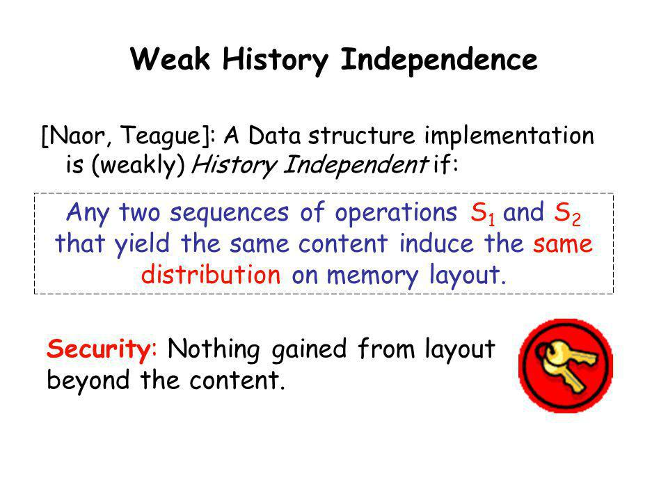Weak History Independence