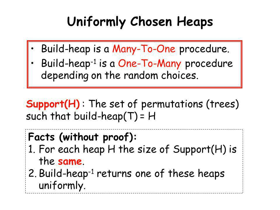 Uniformly Chosen Heaps