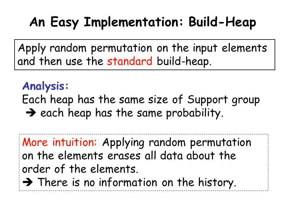 An Easy Implementation: Build-Heap