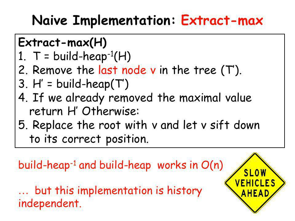 Naive Implementation: Extract-max