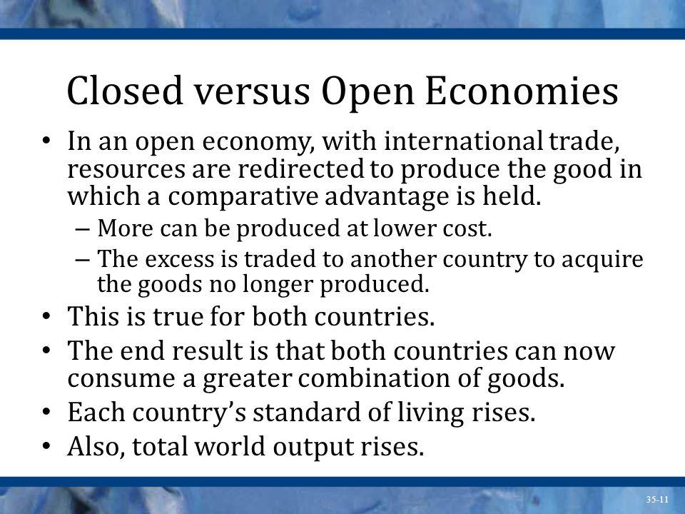 Closed versus Open Economies