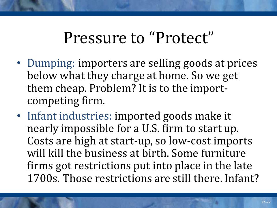 Pressure to Protect