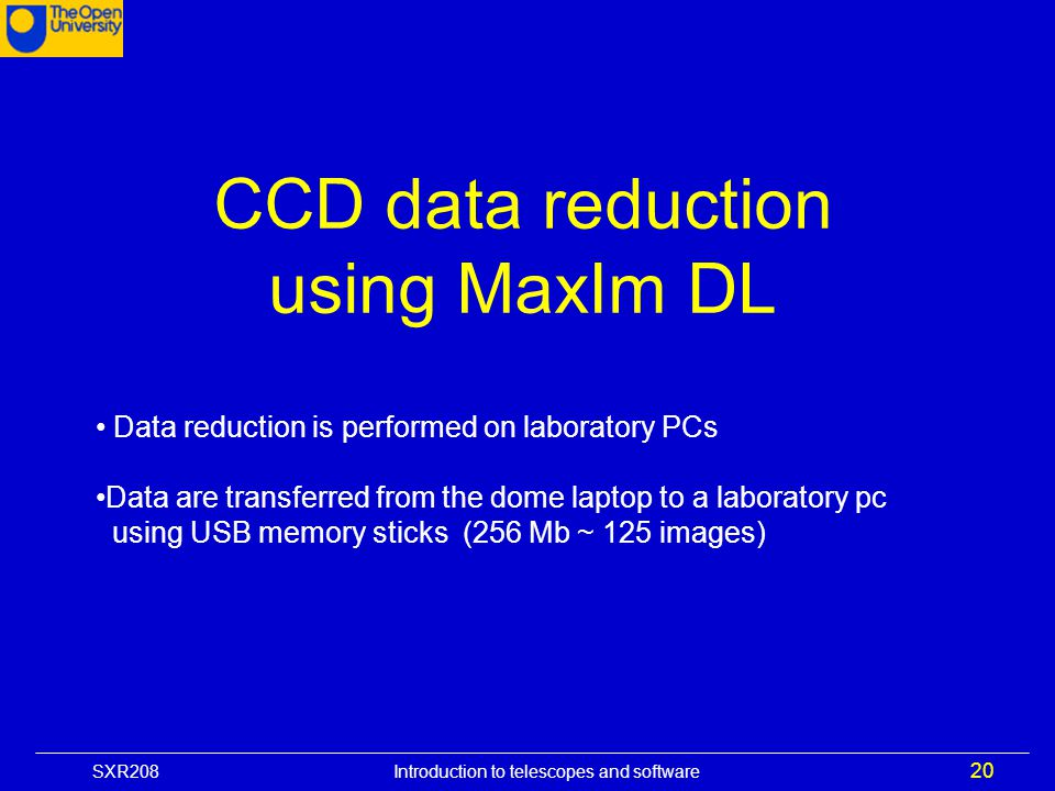 CCD data reduction using MaxIm DL