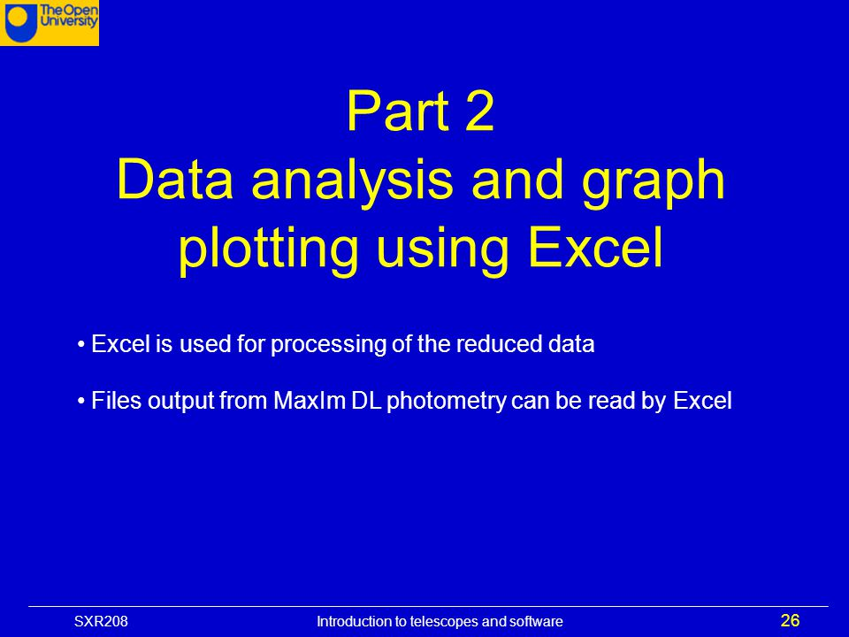 Data analysis and graph plotting using Excel