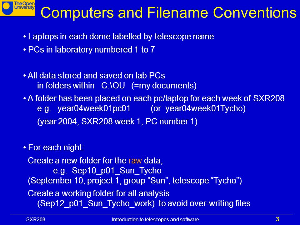 Computers and Filename Conventions