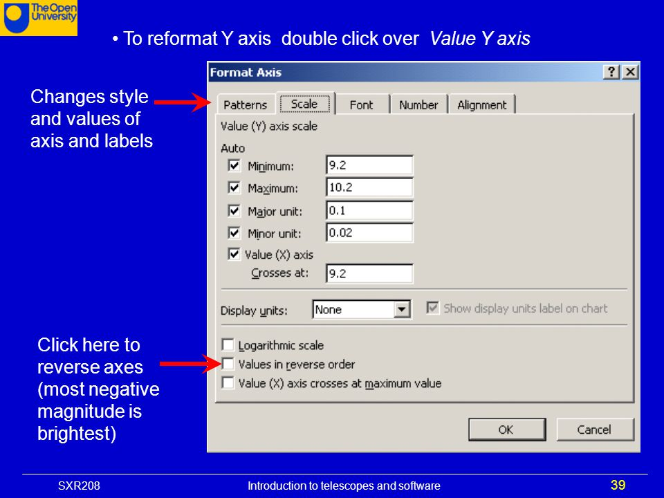 To reformat Y axis double click over Value Y axis