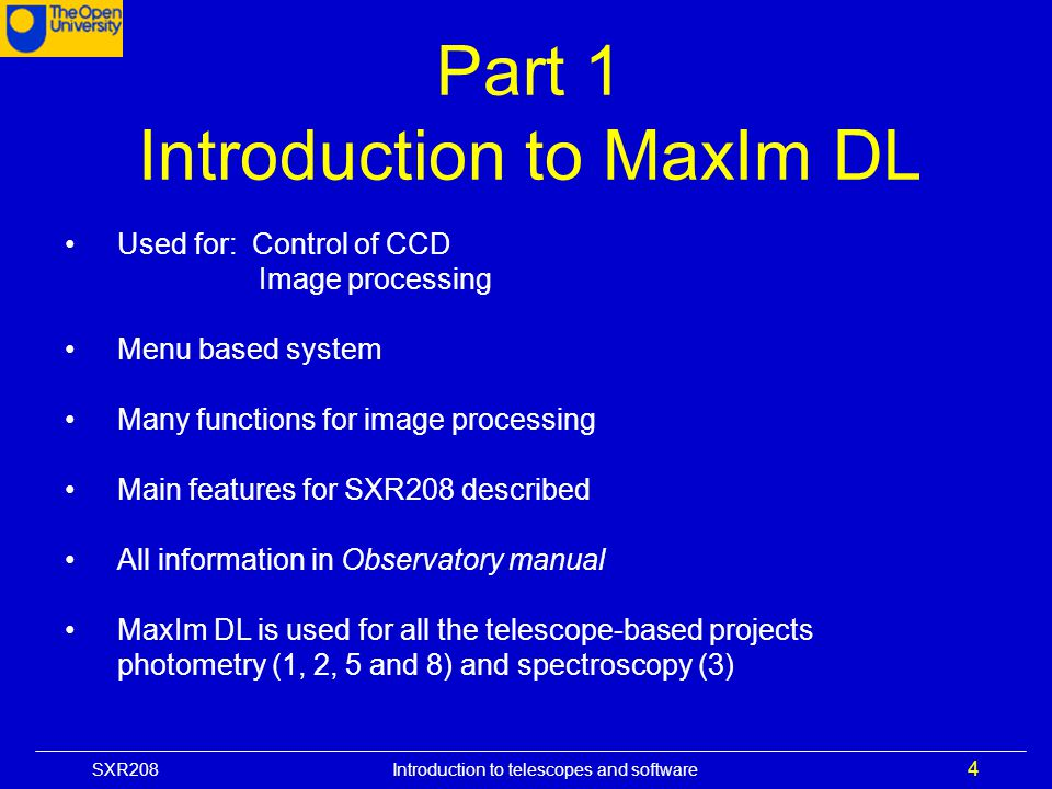 Introduction to MaxIm DL
