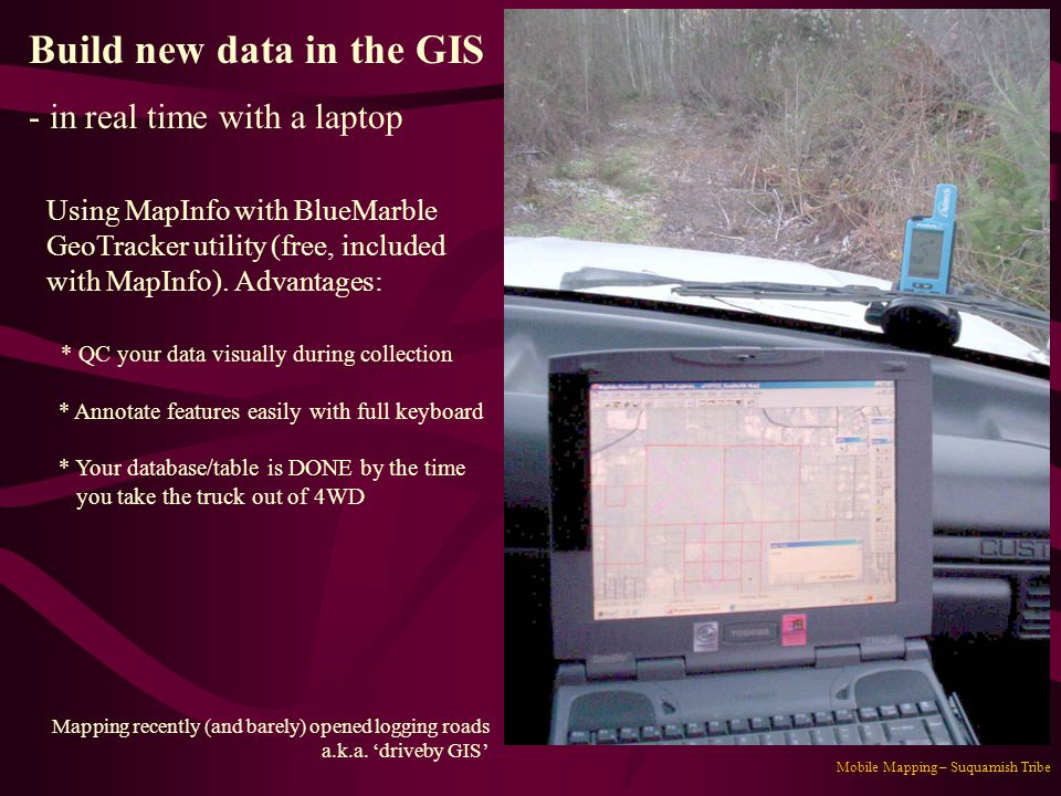 Build new data in the GIS