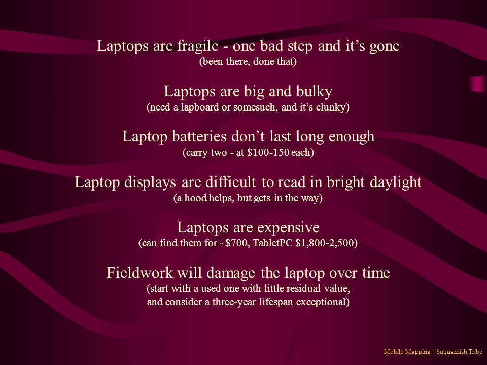 Laptops are fragile - one bad step and it's gone
