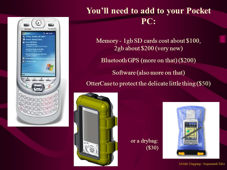 You'll need to add to your Pocket PC: