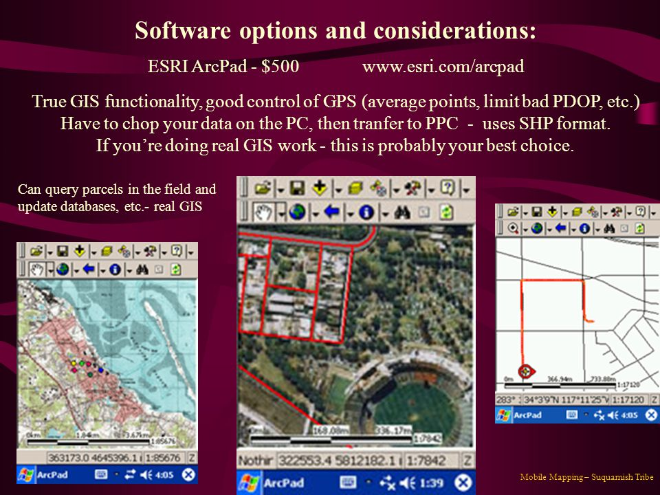 Software options and considerations:
