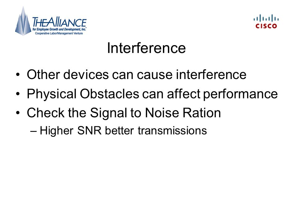 Interference Other devices can cause interference