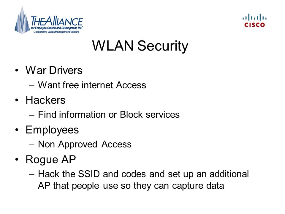 WLAN Security War Drivers Hackers Employees Rogue AP