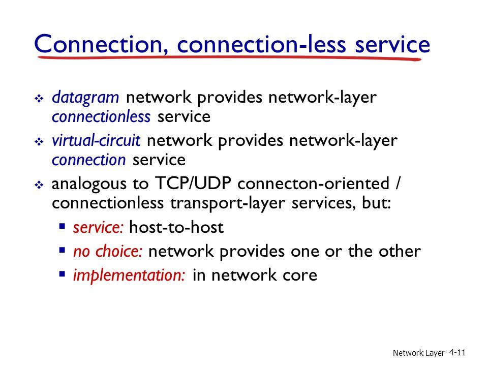 Connection, connection-less service