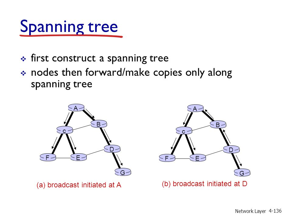 Spanning tree first construct a spanning tree