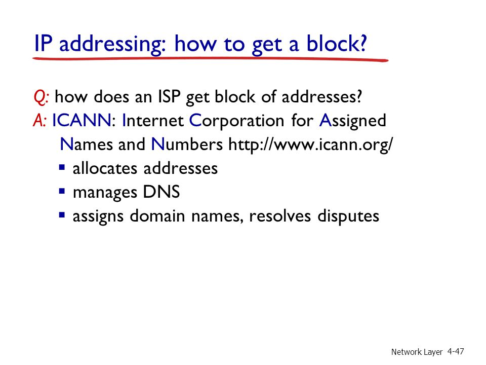 IP addressing: how to get a block
