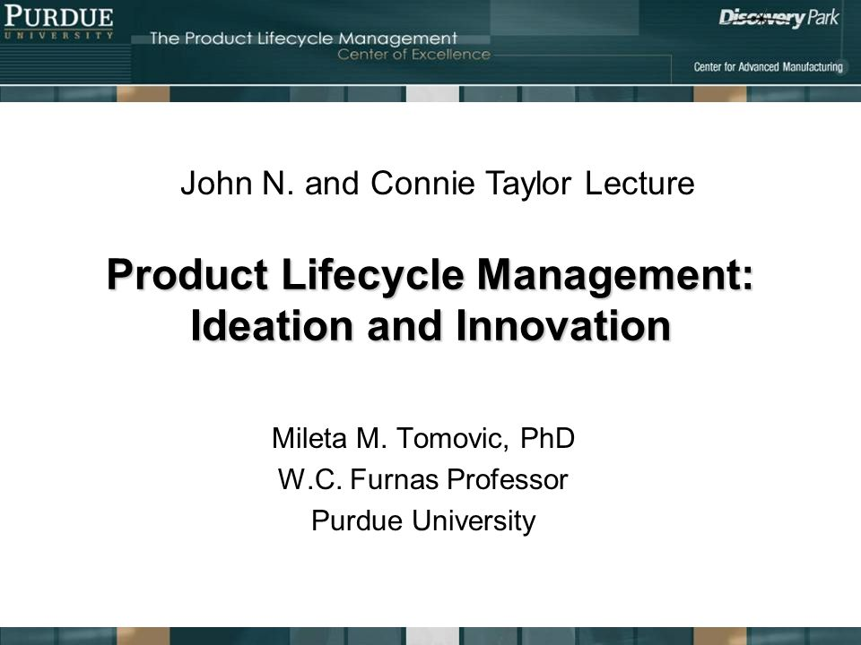 Product Lifecycle Management: Ideation and Innovation