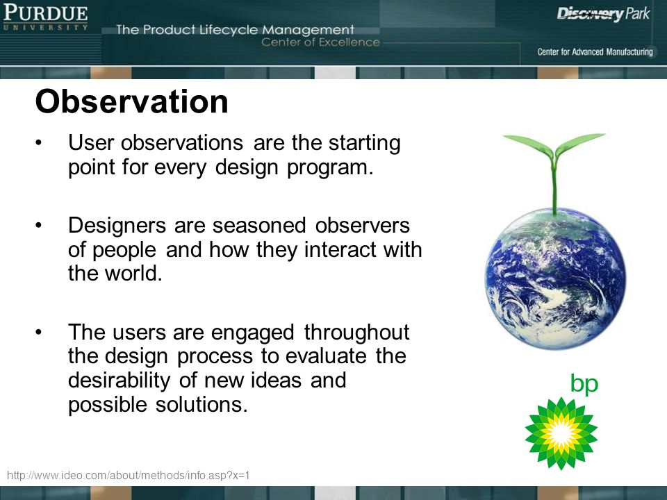 Observation User observations are the starting point for every design program.