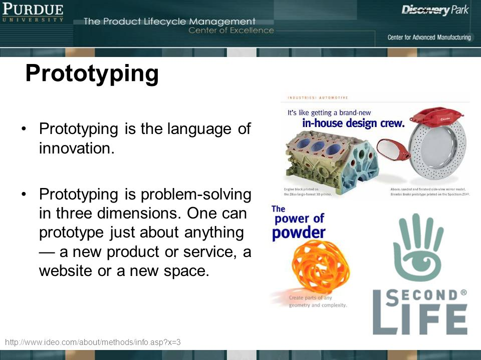 Prototyping Prototyping is the language of innovation.