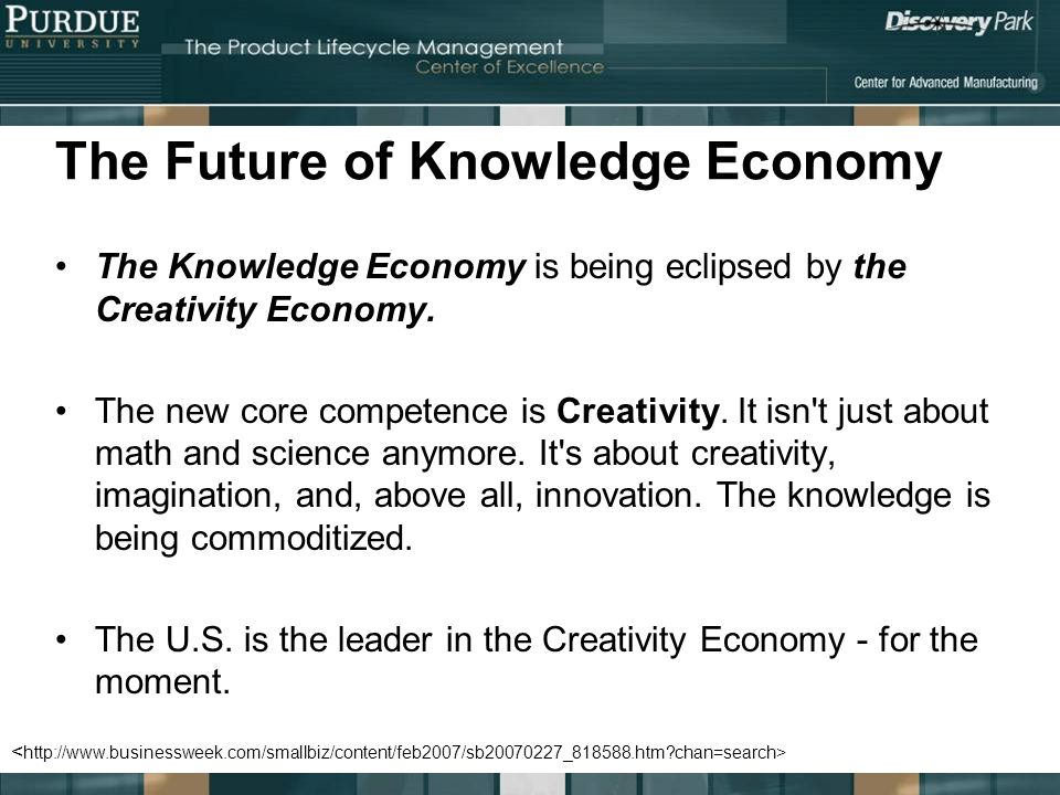 The Future of Knowledge Economy