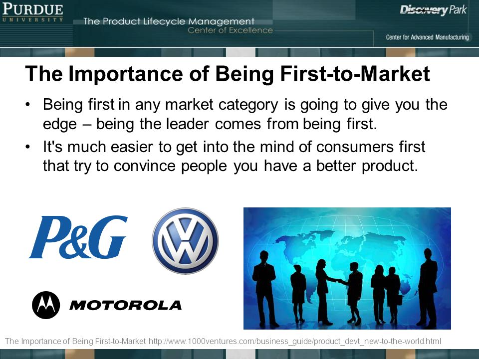 The Importance of Being First-to-Market