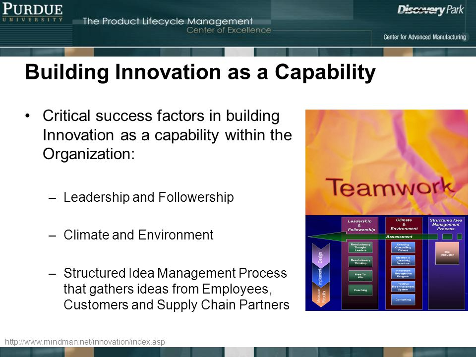 Building Innovation as a Capability
