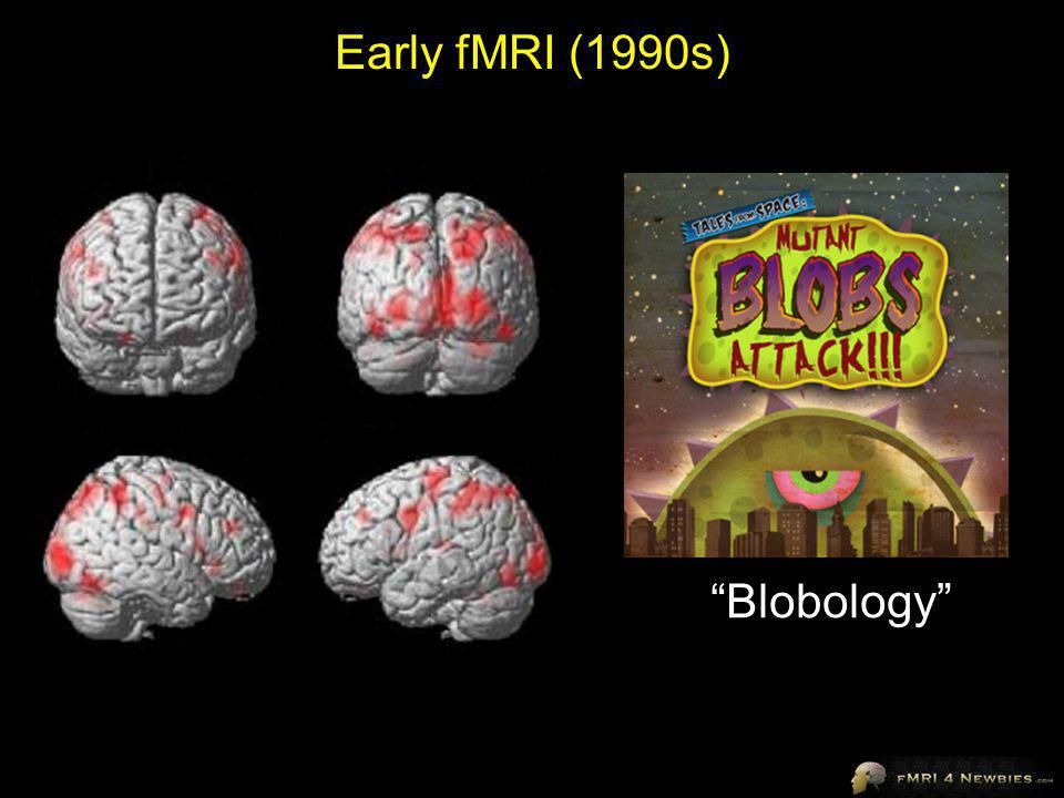 Early fMRI (1990s) Blobology