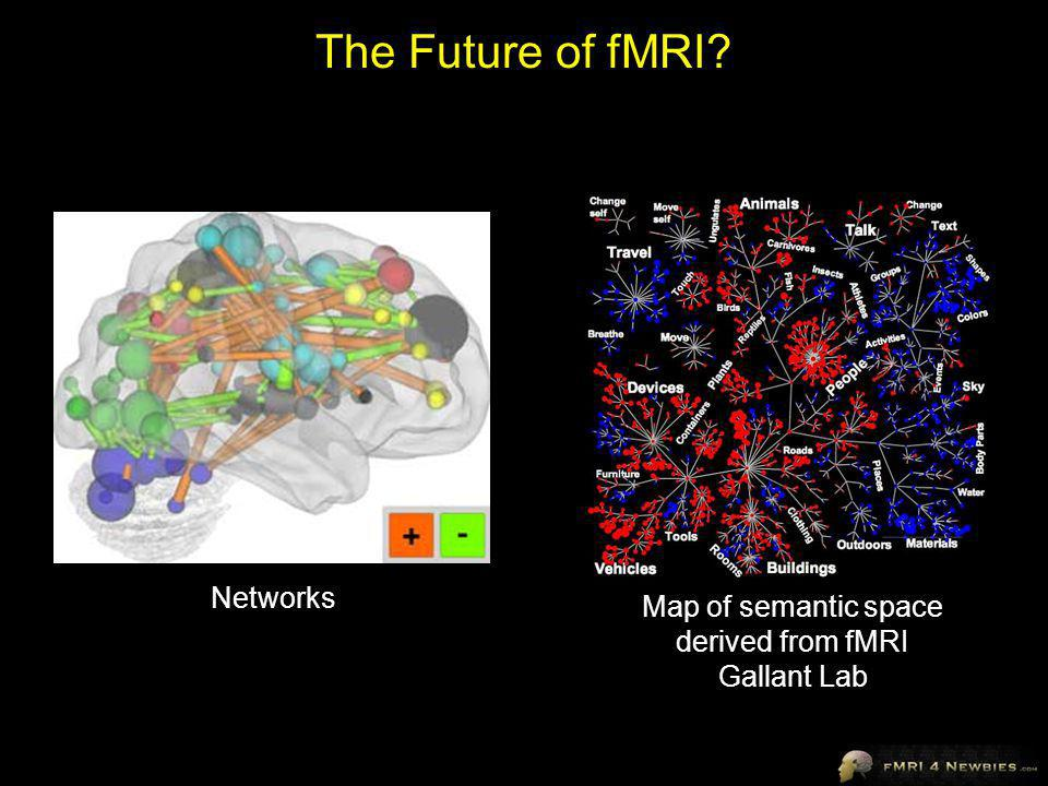 The Future of fMRI Networks Map of semantic space derived from fMRI