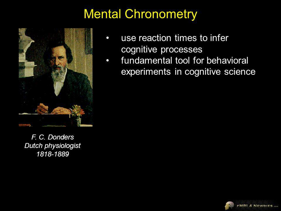 Mental Chronometry use reaction times to infer cognitive processes