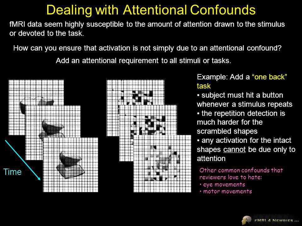 Dealing with Attentional Confounds