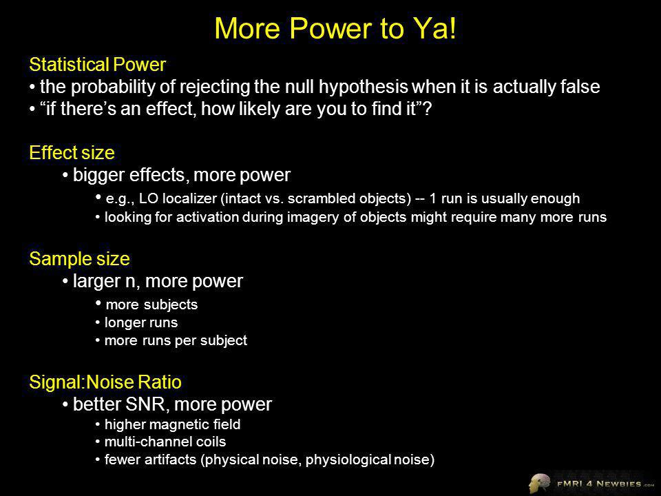 More Power to Ya! Statistical Power