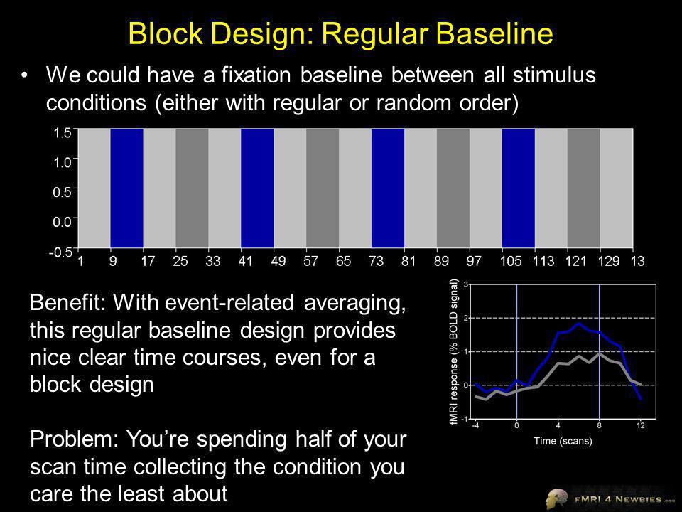 Block Design: Regular Baseline
