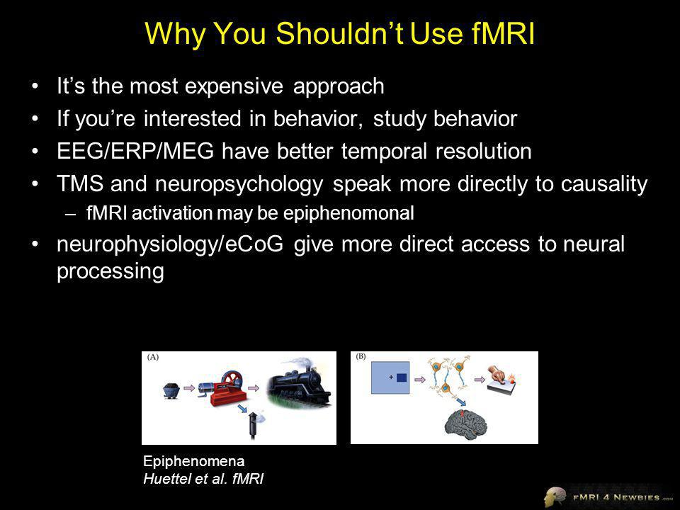Why You Shouldn't Use fMRI
