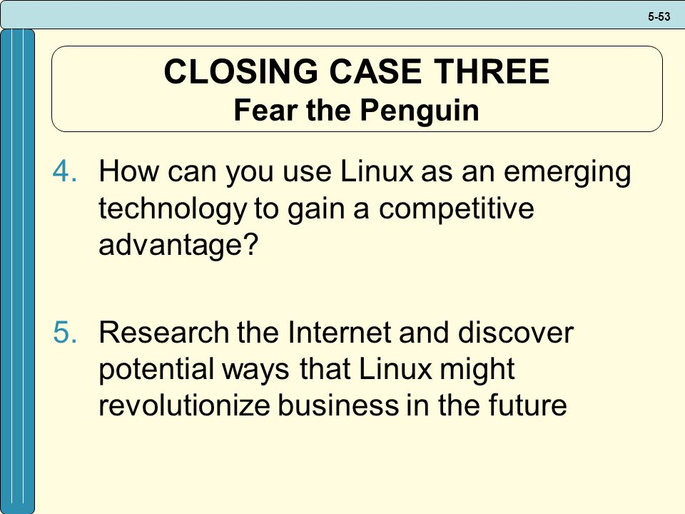 CLOSING CASE THREE Fear the Penguin