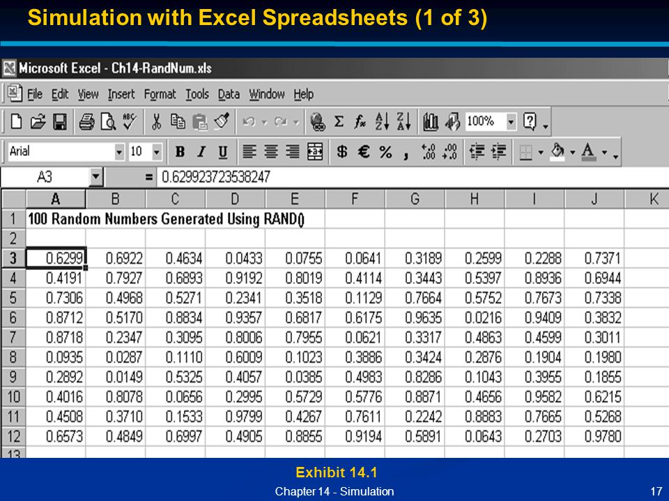 Simulation with Excel Spreadsheets (1 of 3)