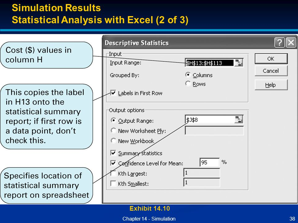 Statistical Analysis with Excel (2 of 3)