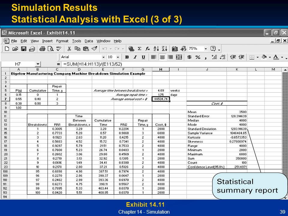 Statistical Analysis with Excel (3 of 3)