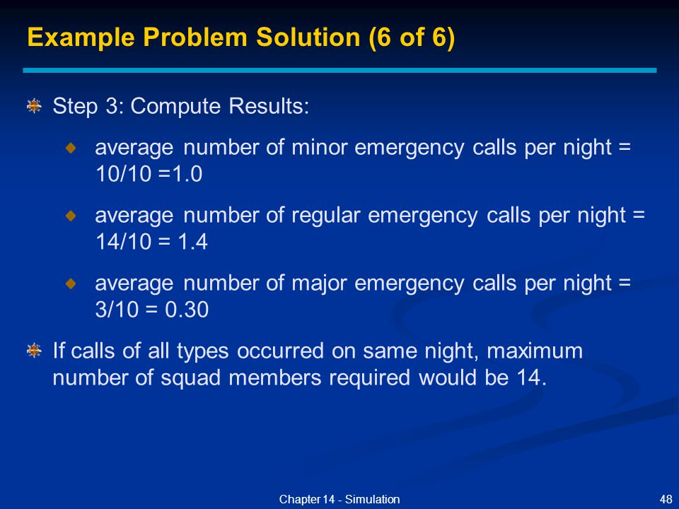 Example Problem Solution (6 of 6)