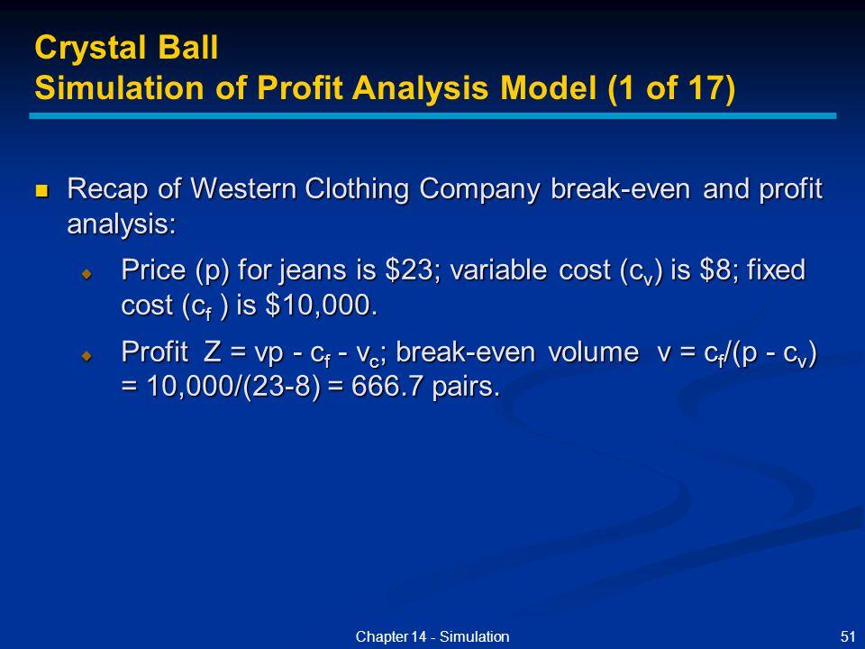 Simulation of Profit Analysis Model (1 of 17)